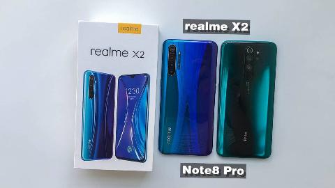 开箱体验realme X2:6400万+骁龙730G,对比Note8 Pro,你选谁?