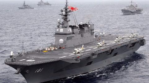 中国需要注意!意大利新航母下水,日本已在加速学习这种海军模式