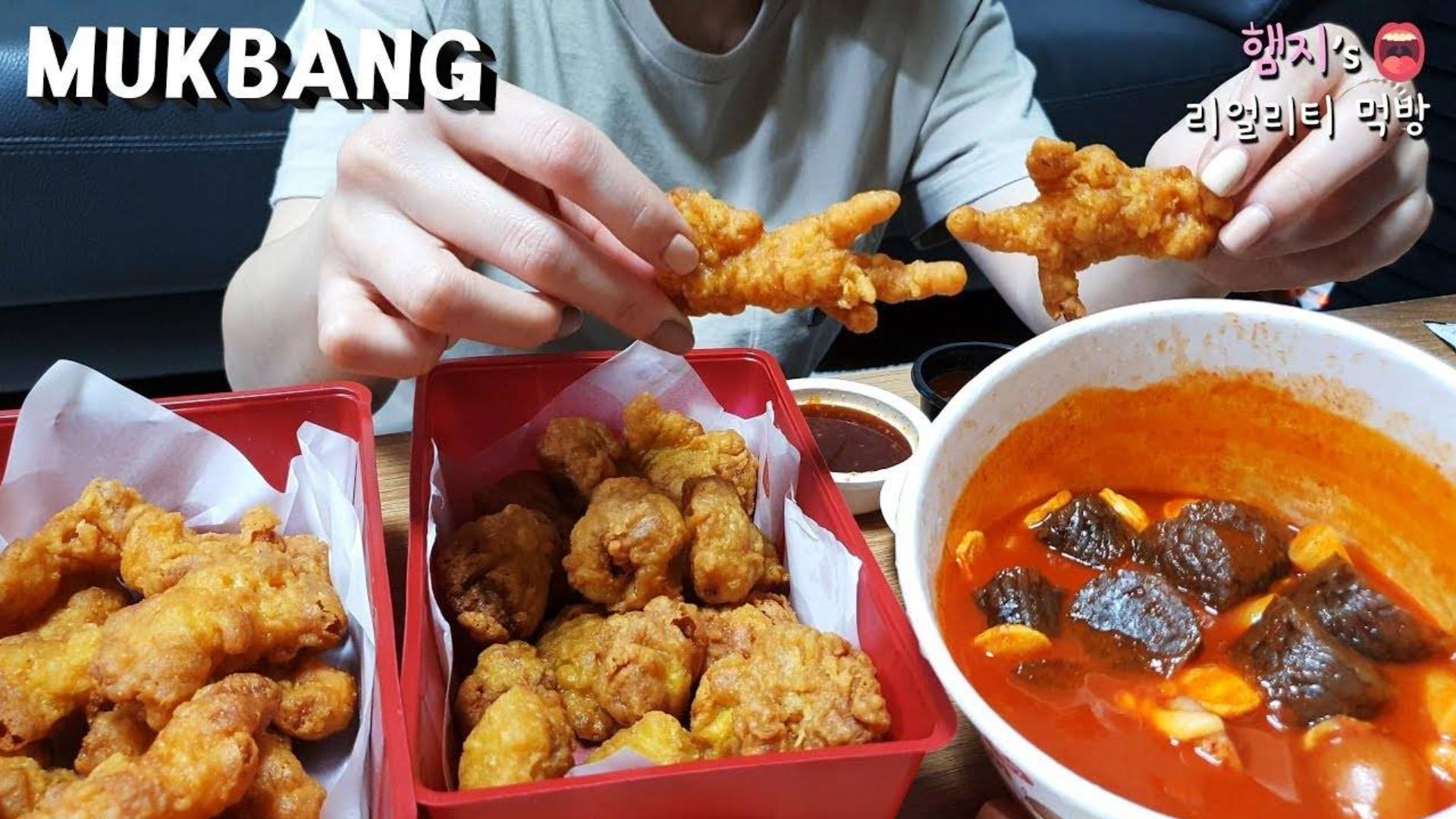 Hamzy11.22~炸鸡爪&炸鸡珍★因为太油腻了就再加一份辣炒年糕!!
