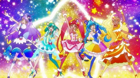 光之美少女Star☆Twinkle 5人变身+cosmo 绝招 BANK2