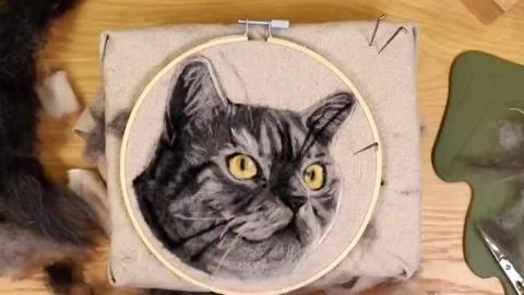 超逼真的猫咪壁饰制作教程,比你打印的还像!