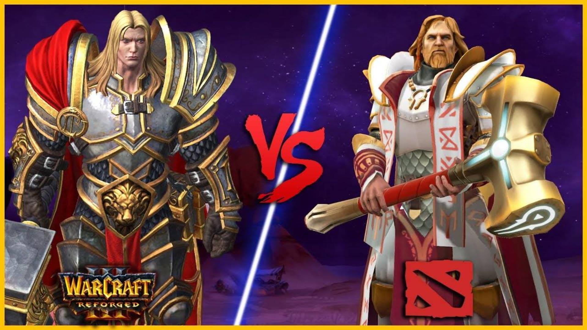 Dota 1对比Dota 2力量英雄-魔兽争霸3重置版