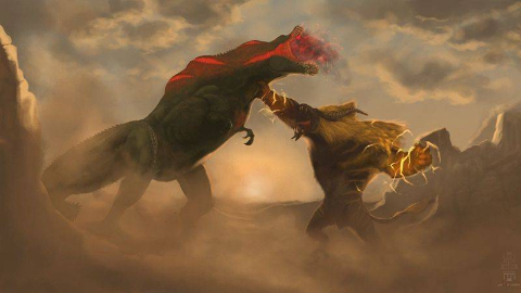 [MHWI][冰原]金狮子初见. 大团长真身真是猛
