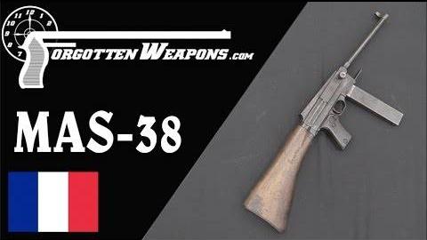 【被遗忘的武器/双语】法国MAS-38冲锋枪历史介绍