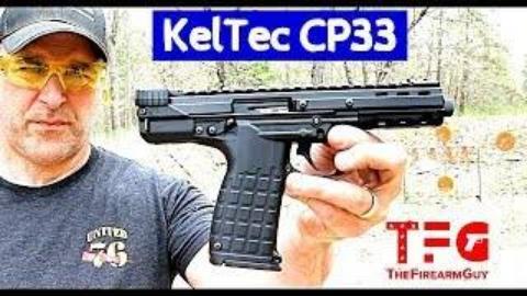试射KelTec CP33 .22手枪