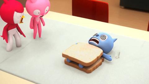 迷你特工队   秀智放在盘子里的三明治被偷吃了 大家怀疑是弗特吃的 秀智一气之下把弗特做成了三