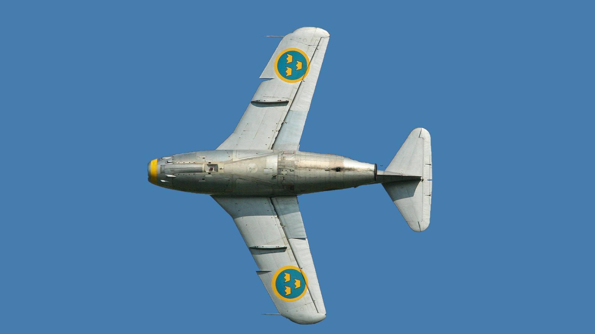 【讲堂514期】瑞典集合当时最先进技术,研发出这款呆萌的SAAB J29战斗机