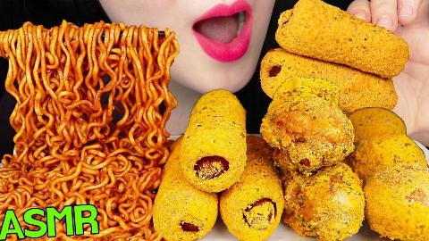 【Jane】芝士球+玉米热狗和万年火鸡面