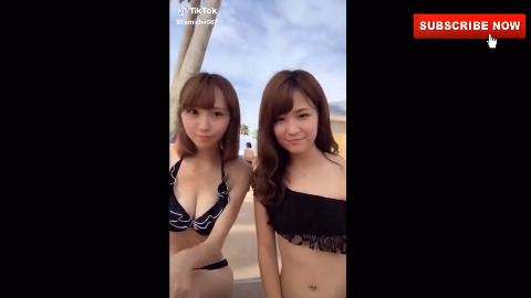 【日本妹子玩抖音】女高中生的日常,可爱的小姐姐与萌妹子