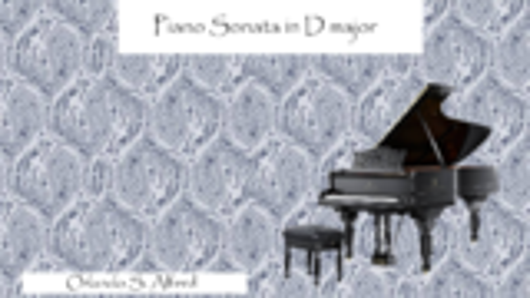 No.1 Piano Sonata in D Major(第一号D大调钢琴奏鸣曲)