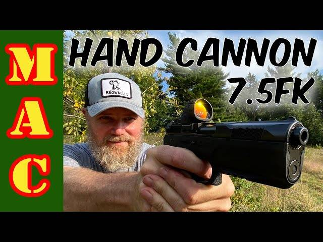 hand cannon!new 7.5fk psd pistol with 10mm barrel!