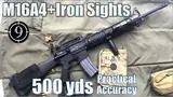 m16a4 iron sights to 500yds: practical accuracy (bcm upper