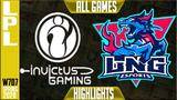 ig vs lng highlights all games | lpl spring 2020 w7d7 | invictus gaming vs lng esports