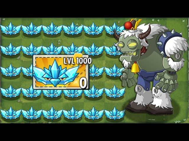 every plant level 1000 power-up!in plants vs zombies