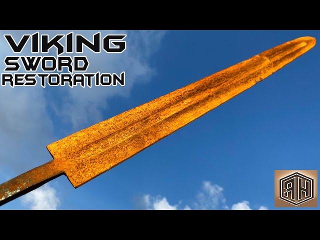 rusted modern viking s sword restoration