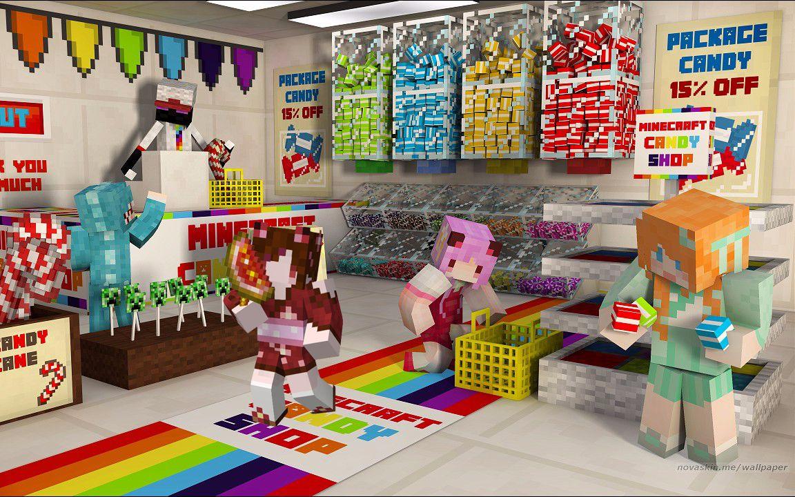 【大橙子】妹子幸运方块大冒险#5糖果星[我的世界Minecraft]