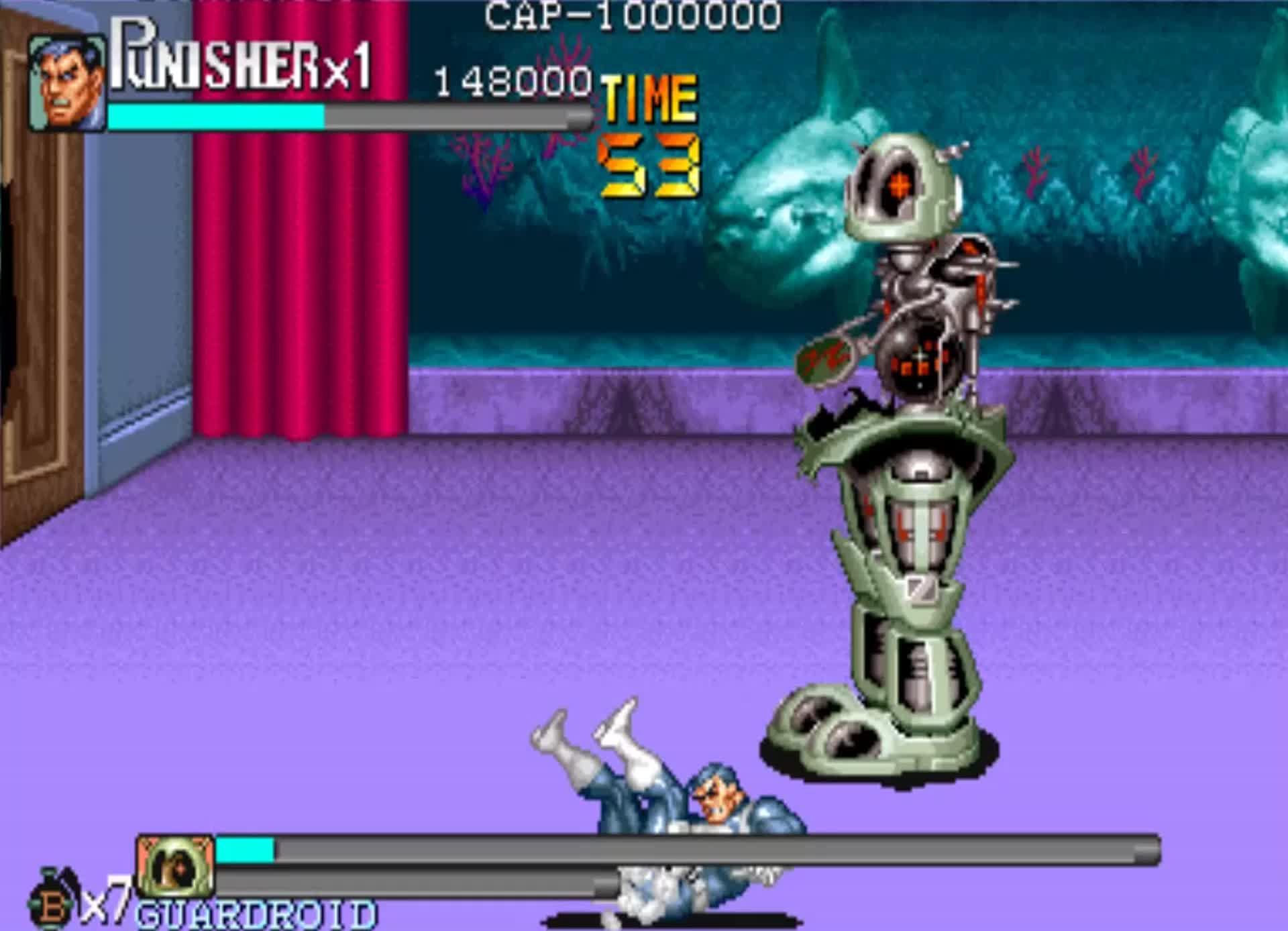 街机游戏《惩罚者》罕见的摇女忍者, 一样可以出无敌效果