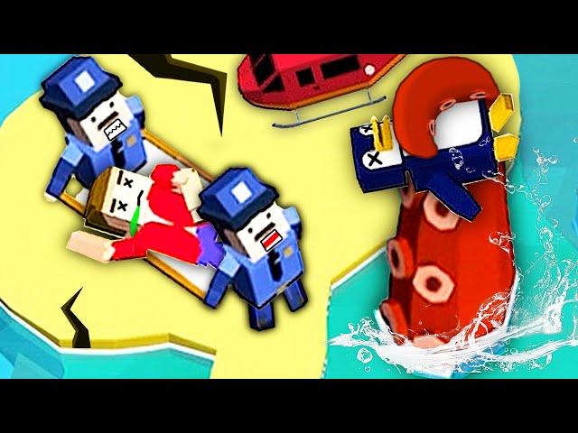 模擬救援隊 在無人島探險非常危險,經常有海怪出現!小熙解說