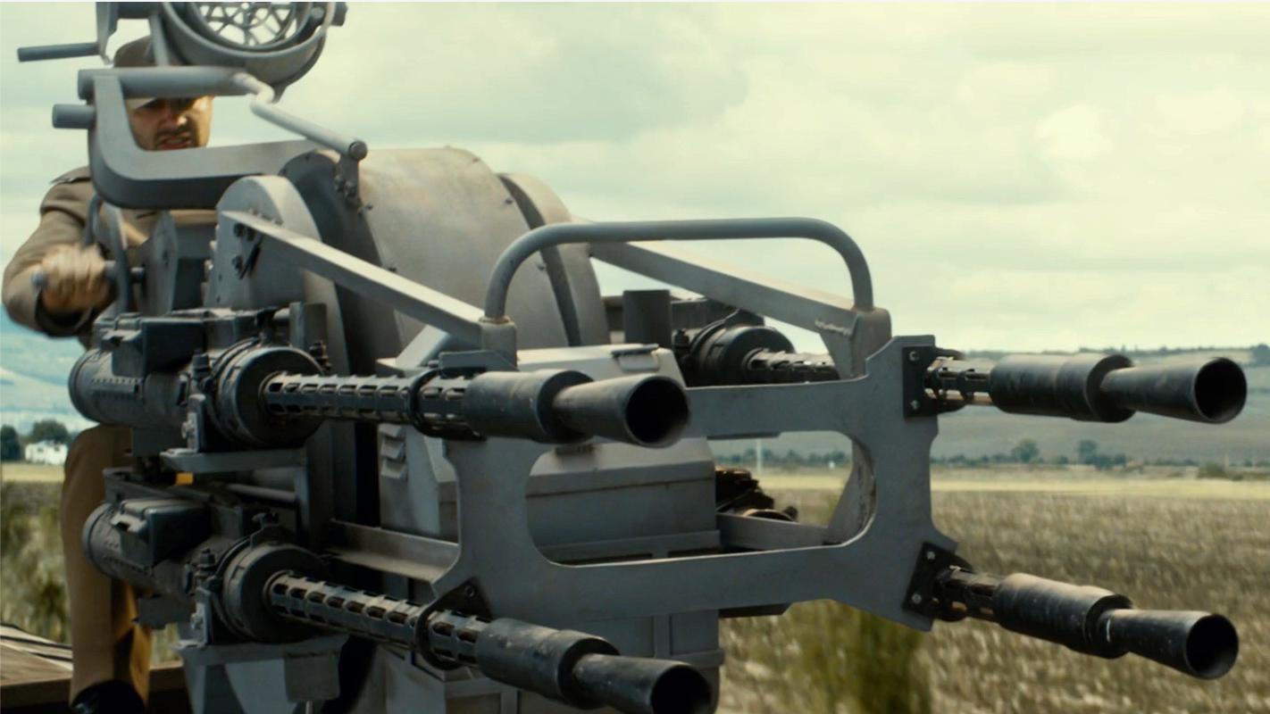 我见过的最残暴的重机枪! 这才叫火力覆盖, 就问你谁顶得住, 影视