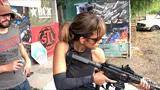 halle berry training with taran for john wick: chapter 3 - parabellum