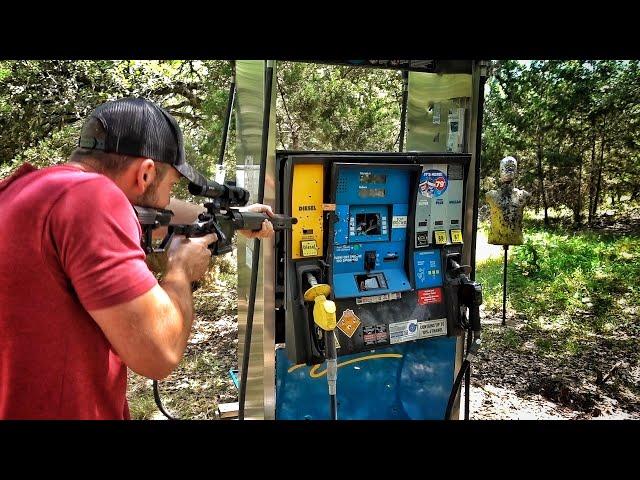 can a bullet light a gas tank on fire?