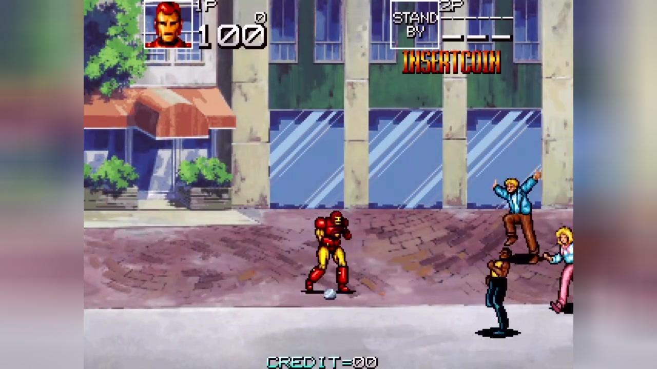街机游戏 上尉密令又叫美国队长 钢铁侠一命通关 看哥拯救地球