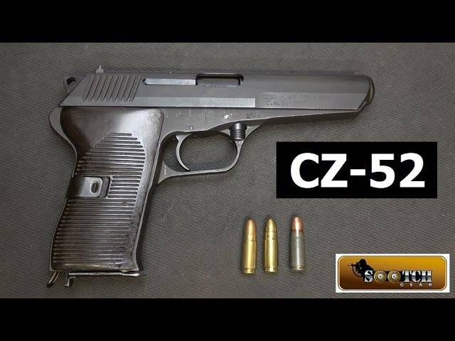 cz-52 czech military surplus pistol review
