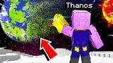 playing as thanos in space in minecraft!(infinity gauntlet