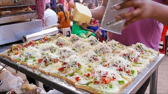印度街头小吃, 比萨, 起司三明治, 多萨, 牛奶面条