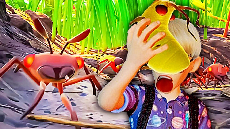 禁闭求生 我们变得和蚂蚁一样小, 只能吃肥绿虫为生 屌德斯阿波兔