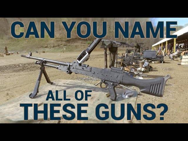 can you name all of these guns?