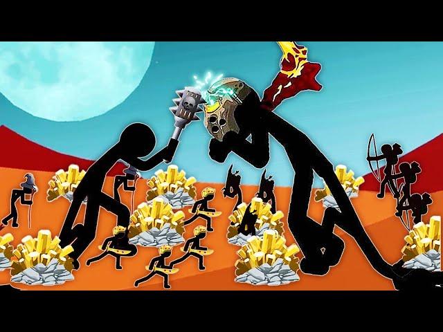 火柴人戰爭 為了搶金礦,我的獅鷲大帝能1挑300人!小熙解說