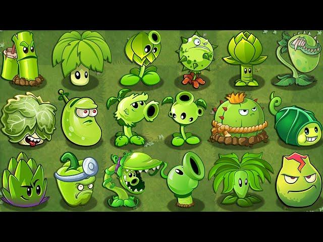 plants vs zombies 2 all green plants power-up!vs zombotany