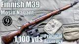 finnish m39 mosin nagant to 1,100yds: practical accuracy