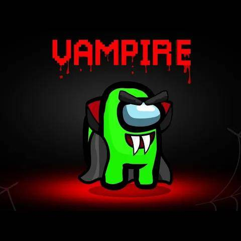 playing among us with a *new* vampire role!(bite the impostor