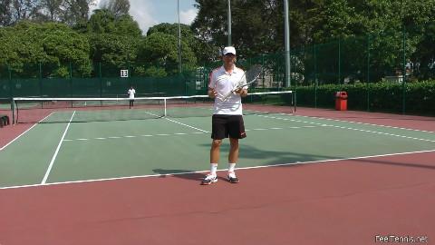 网球正反手如何处理高球