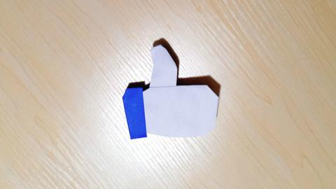 """【折纸-教程】折纸UP主为考生加油~给你们""""点个赞""""!"""