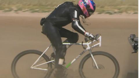 自行车时速181公里,创了吉尼斯纪录,疯狂