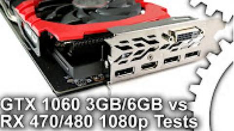 GTX1060 3/6G和RX 470、RX 480在1080P下的游戏性能对比