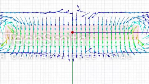 Anasys Maxwell 3D 长方形永磁体磁场仿真