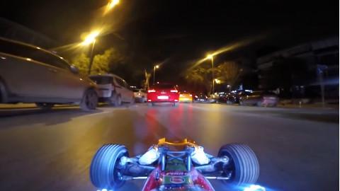 【第一视角(RC)】驾驶遥控赛车在公路上行驶,精神以高潮