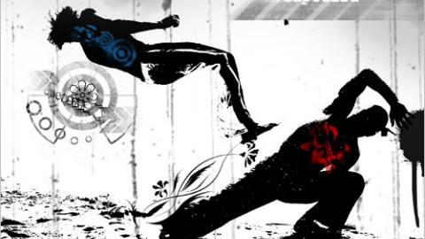 卡波拉:来感受力量,运动,武术,平衡,舞蹈,音乐的美学