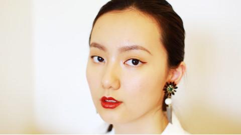 【自制】超简单的单眼皮复古红唇妆容