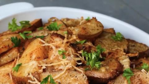 【土豆大餐第一弹】帕尔马干酪烤土豆