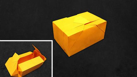 【折纸-教程】折纸UP主教你折一个会变形的礼品盒,实用的折纸大家最喜欢了对吧