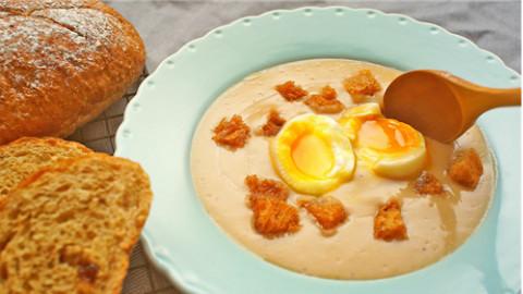 用面包来做汤+溏心蛋丨绵羊料理