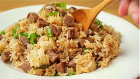 黑椒牛排炒饭⊙⊙竟如此简单丨绵羊料理