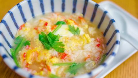 15分钟日式蟹肉菜粥~低卡美味~也可换其他肉丨绵羊料理