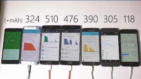 三星、一加、谷歌和苹果旗舰手机快充速度对比