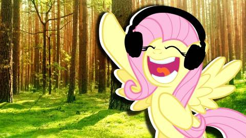 Fluttershy plays Tree Simulator?